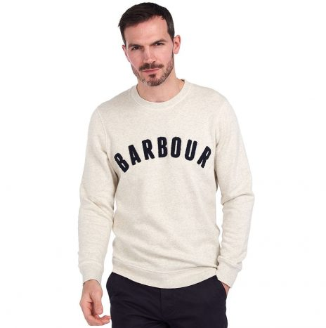 Sweat Barbour Prep Logo Ecru Marl