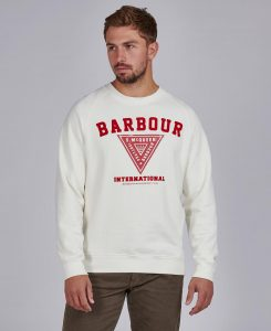 Sweat Vintage Print STEVE MCQUEEN™ Barbour Whisper White