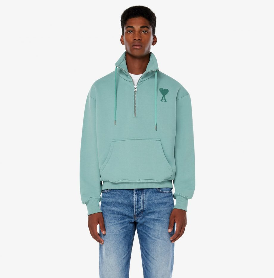 Sweatshirt_Zippe_Ami_de_Coeur_Vert_d'Eau