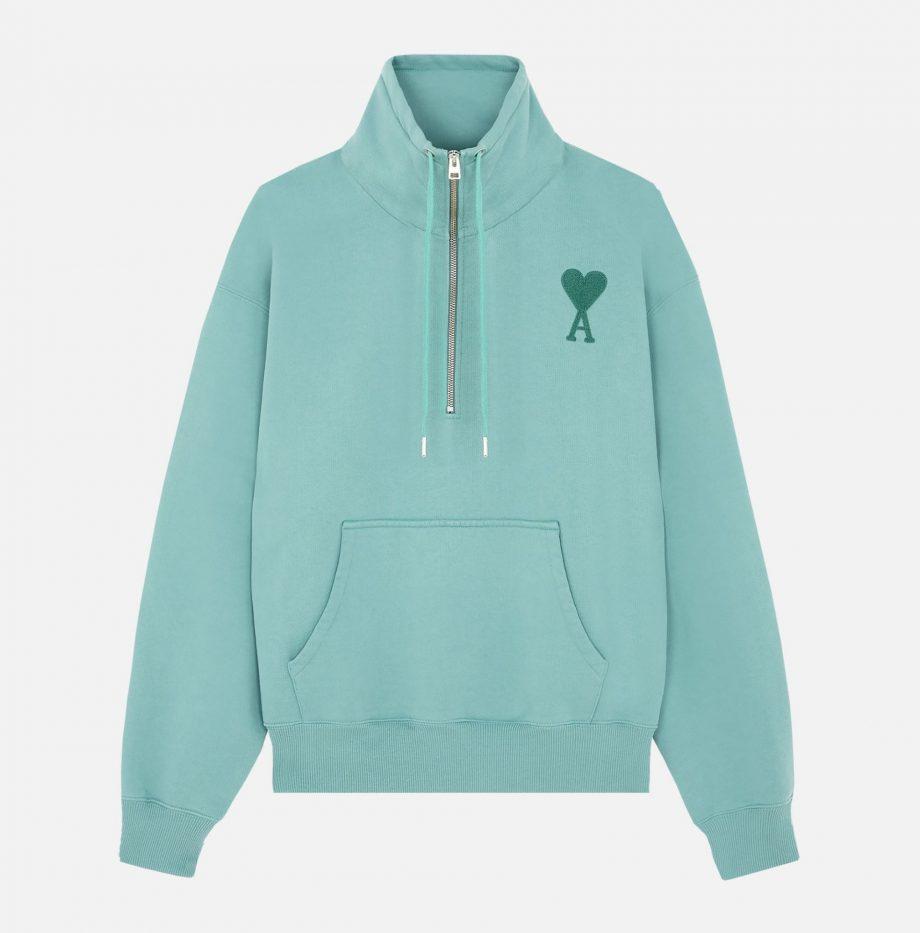 Sweatshirt_Zippe_Ami_de_Coeur_Vert_d'Eau_2