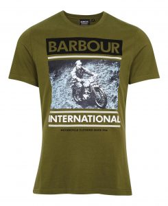 Tee-Shirt Archive Downforce Barbour Vintage Green