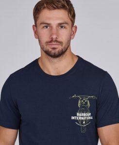 Tee-Shirt Bike Print Barbour Navy