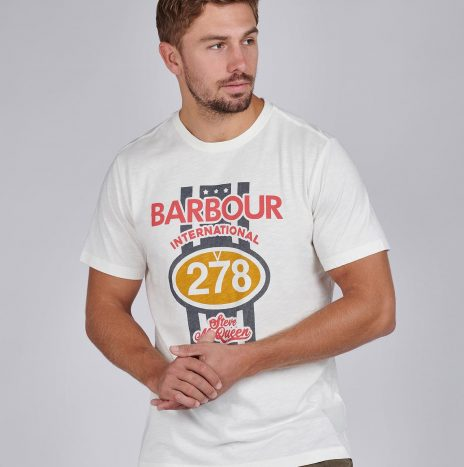 Tee-Shirt Chase STEVE MCQUEEN™ Barbour Whisper White