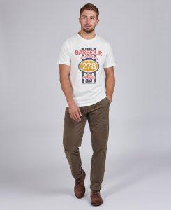 Tee-Shirt Chase STEVE MCQUEEN™ Barbour Whisper White