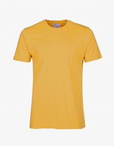 Tee-Shirt Classic Organic Colorful Standard Burned Yellow