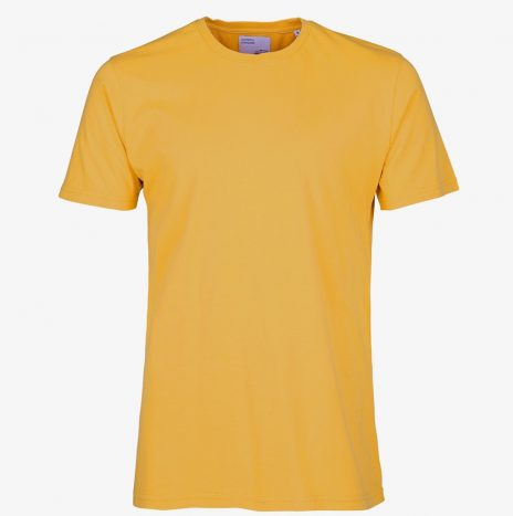 Tee-Shirt Classic Organic Colorful Standard Burned Yellow