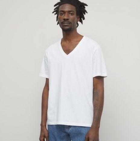Tee-Shirt Col V Closed Blanc