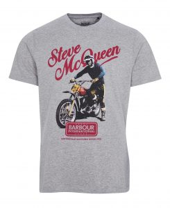 Tee-Shirt Enduro STEVE MCQUEEN™ Barbour Grey Marl
