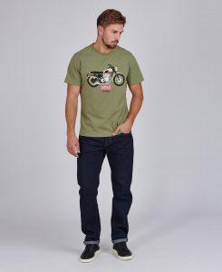 Tee-Shirt Indiana STEVE MCQUEEN™ Barbour Light Moss