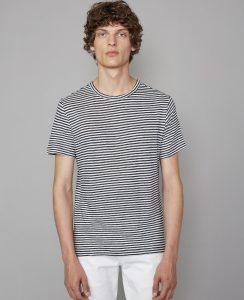 Tee-Shirt Lin Rayé Officine Générale Black/White