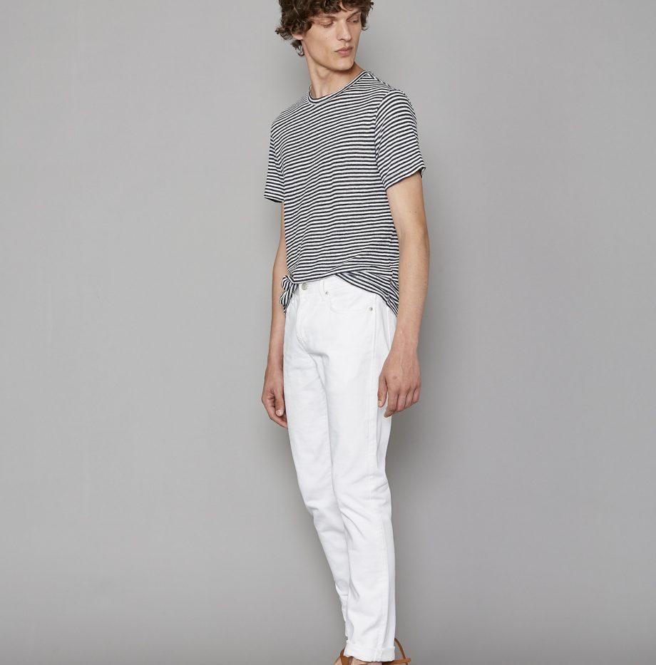 Tee-Shirt_Lin_Rayé_Officine_Générale_Black:White_2