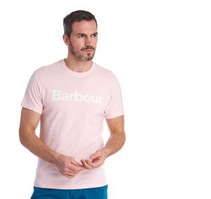 Tee-Shirt Logo Barbour Chalk Pink