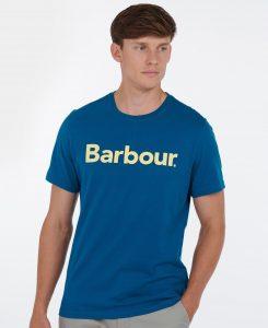 Tee-Shirt Logo Barbour Lyons Blue