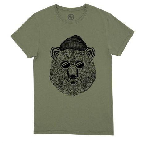 Bear & Sun T-Shirt StepArt Lichen