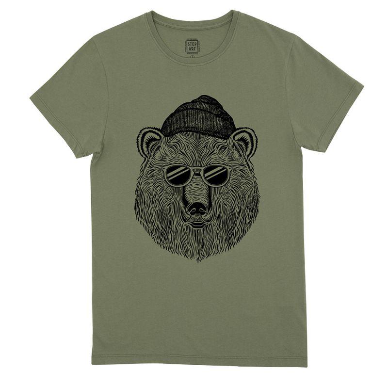 Bear_&_Sun_T-Shirt_StepArt_Lichen
