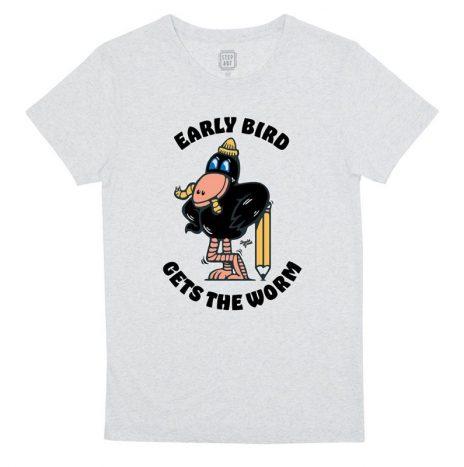 Early Bird T-Shirt StepArt Chantilly