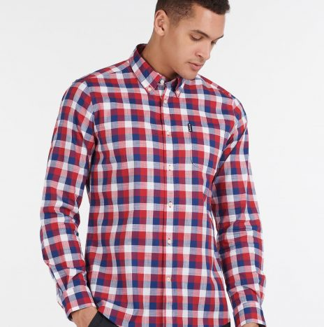 Gingham 25 Chemise Barbour Red