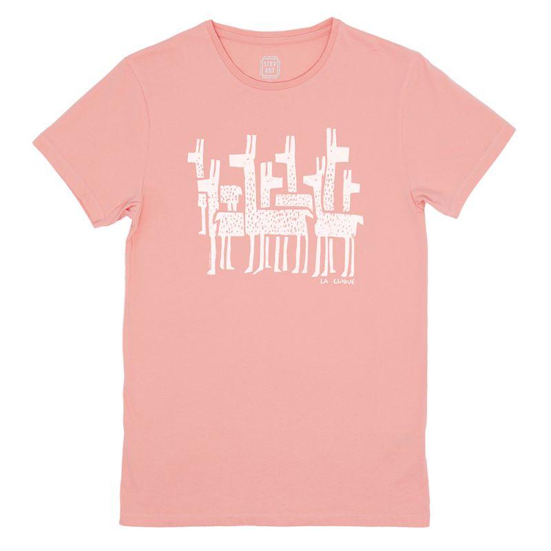 La_Clique_T-Shirt_StepArt_Vintage_Pink