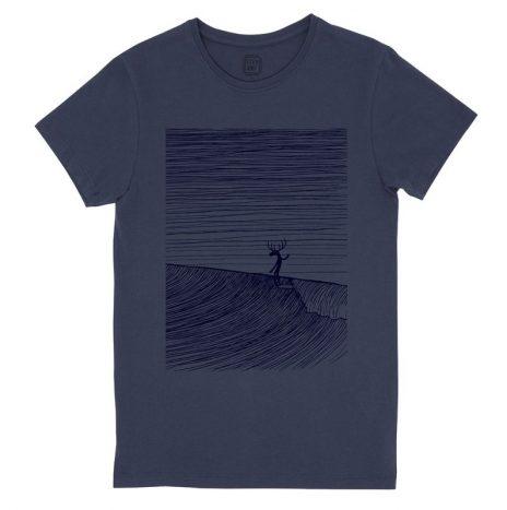 Moosa Head T-Shirt StepArt Navy