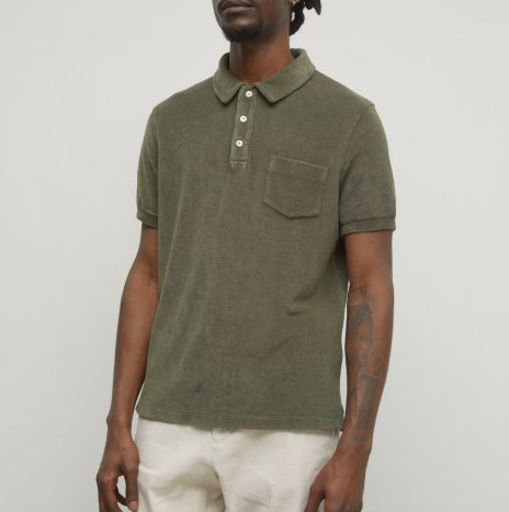 Polo Eponge Closed Grey Fir