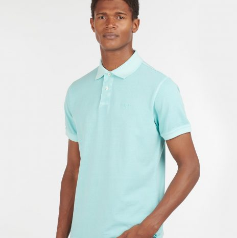 Polo Washed Sports Barbour Aqua