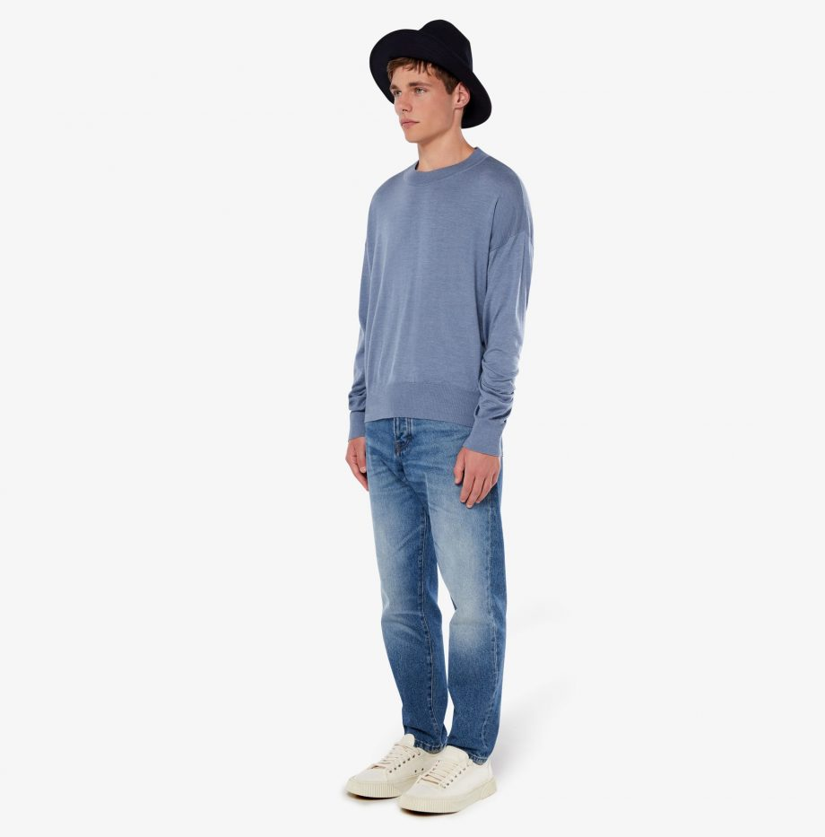 Pull_Col_Rond_Oversize_Ami_Bleu