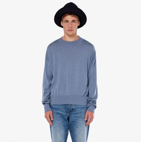Pull Col Rond Oversize Ami Bleu