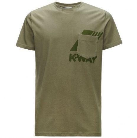 Ros t-shirt K-Way Green Dk Olive