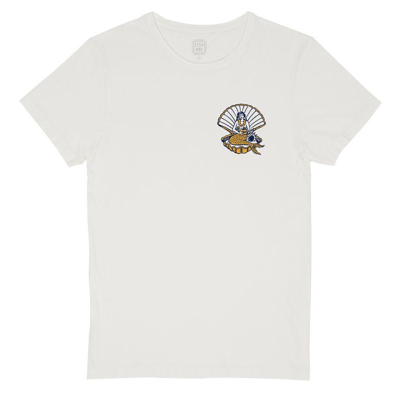 Sirene_&_Yukulele_T-Shirt_StepArt_White