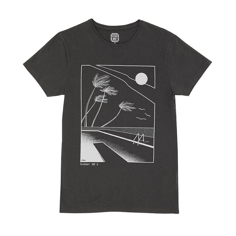 Summer_90'_T-Shirt_StepArt_Noir