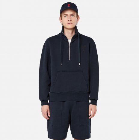 Sweatshirt Zippe Ami de Coeur Marine