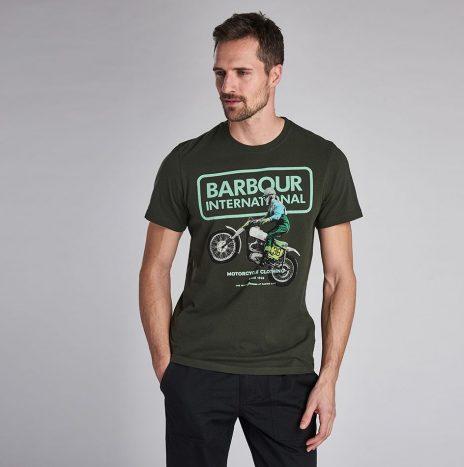Tee-Shirt Archieve STEVE MCQUEEN™ Barbour Jungle Green