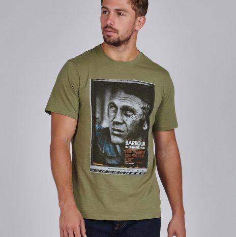 Tee-Shirt Hero STEVE MCQUEEN™ Barbour Light Moss
