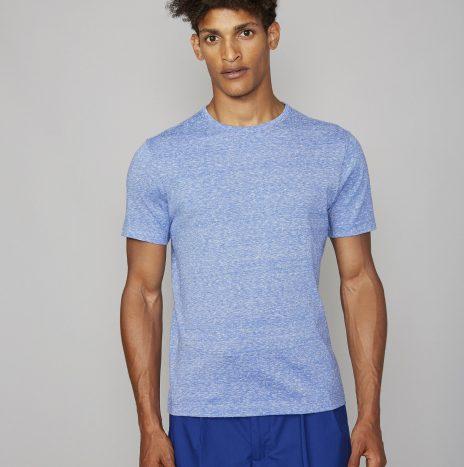 Tee-Shirt Jersey Coton et Soie Officine Générale Whie/Blue