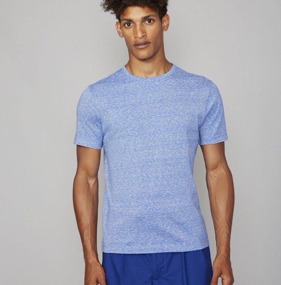 Tee-Shirt_Jersey_Coton_et_Soie_Officine_Générale Whie:Blue