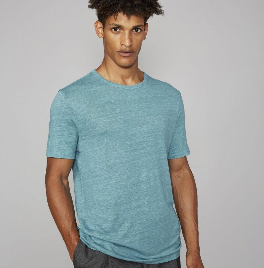 Tee-Shirt_Lin_Officine_Générale_Britanny_Blue