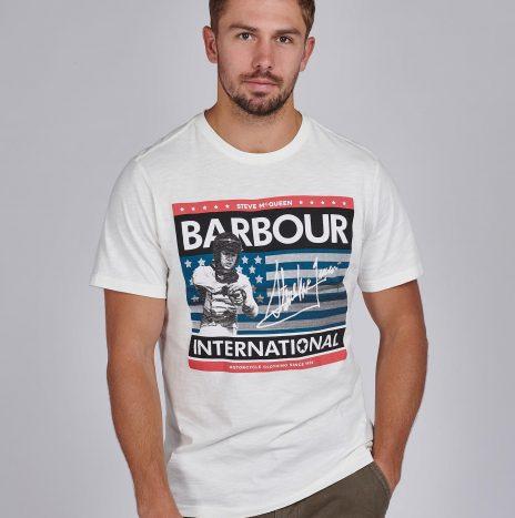 Tee-Shirt Time STEVE MCQUEEN™ Barbour Whisper White