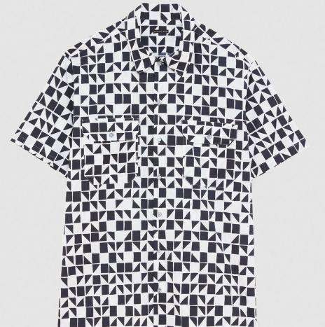 Chemise Manches Courtes Geometric Patrizia Pepe Black/White