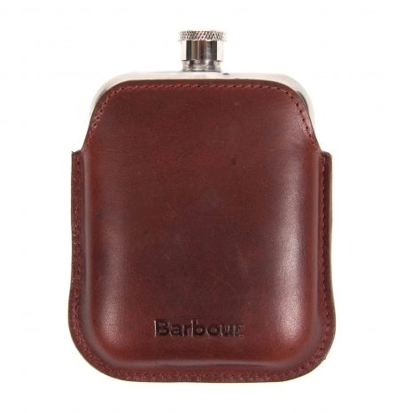 Flask Barbour Wax Leather Brown