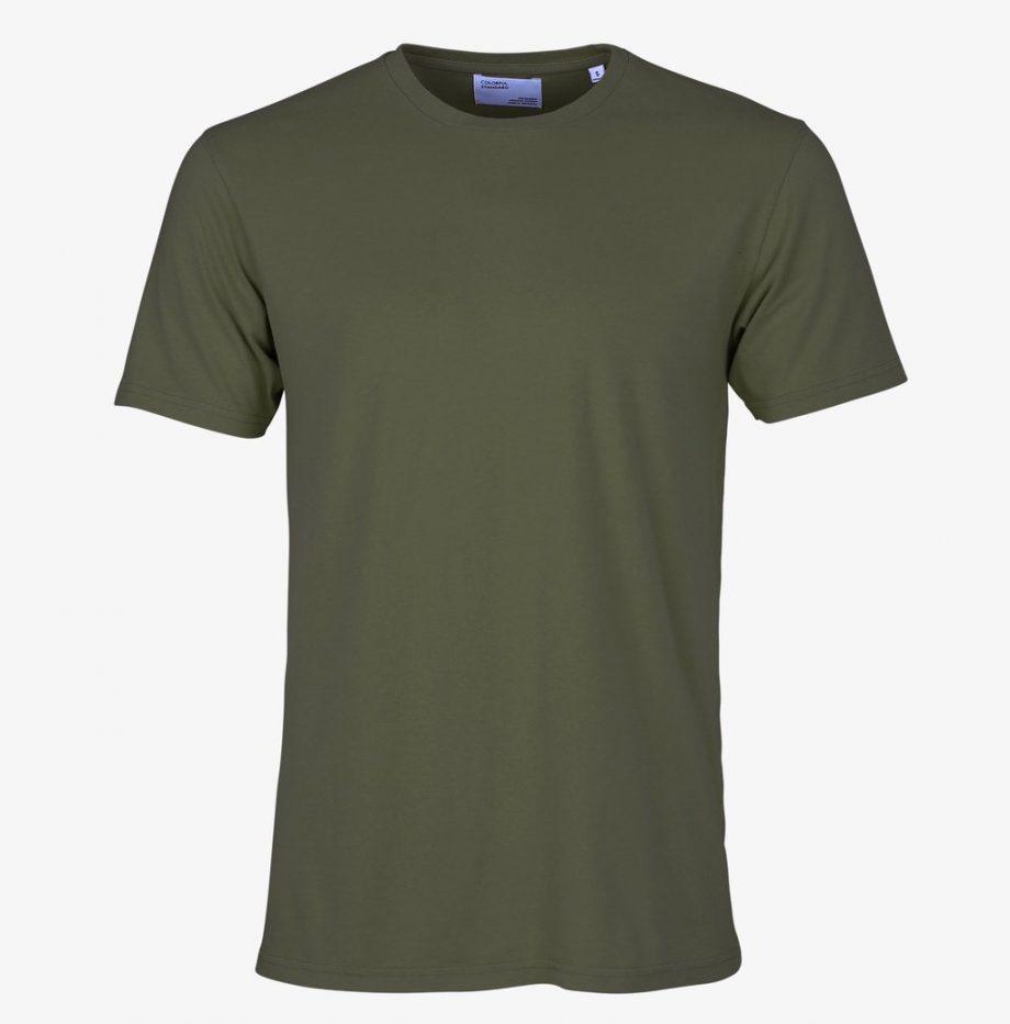 Tee-Shirt Classic Organic Colorful Seaweed Green