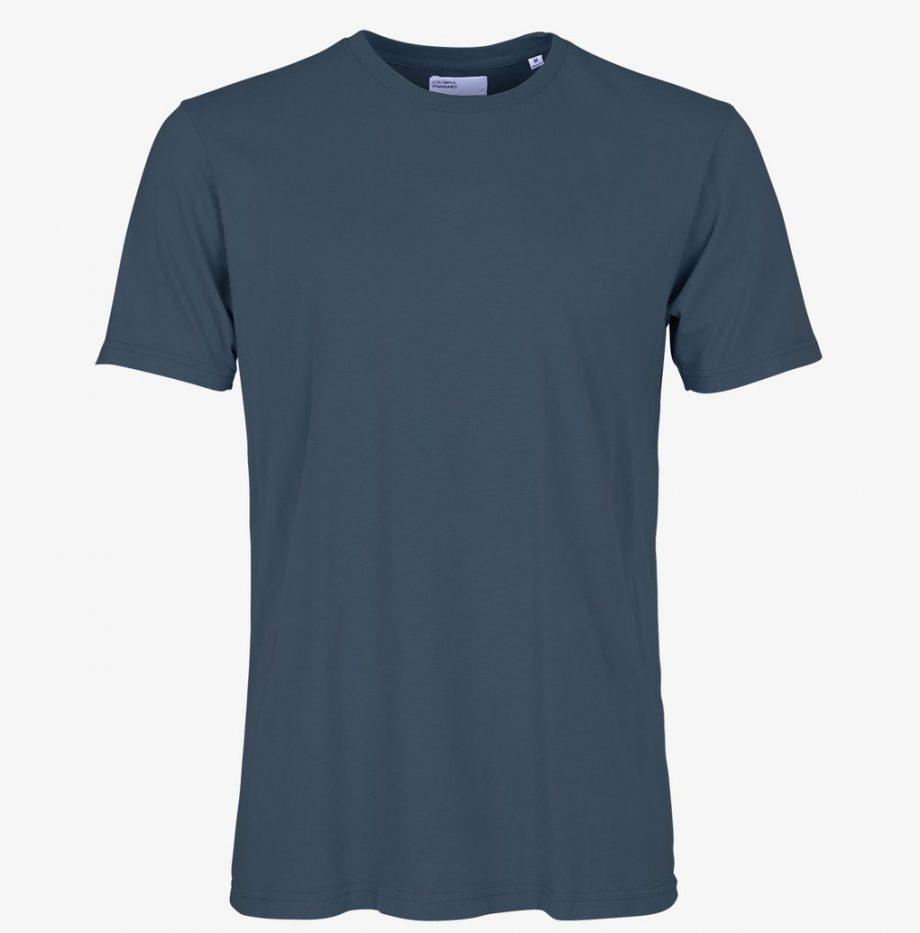 Tee-Shirt Classic Organic Colorful Standard Petrol Blue_2