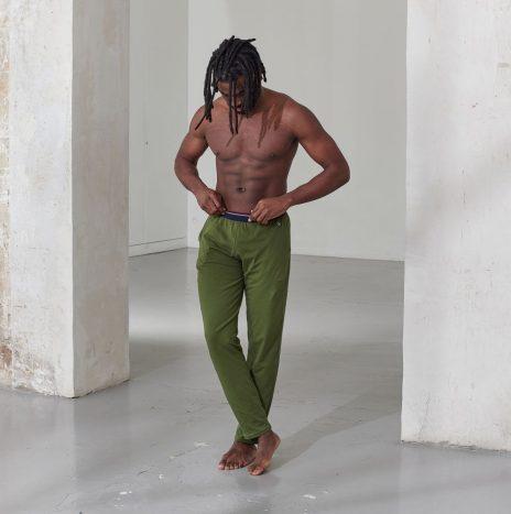 Bas de Pyjama Le Slip Francais Le Toudou Vert Olivine