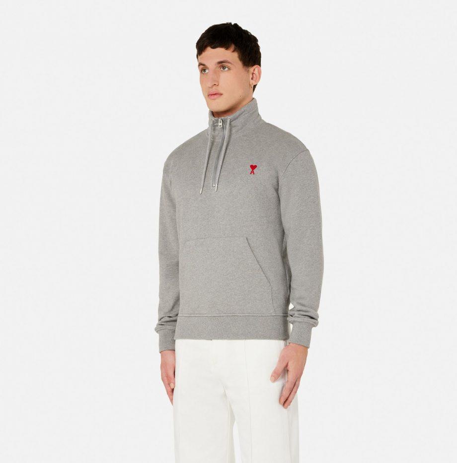 Sweatshirt_Zippe_Ami_de_Coeur_Gris_Chiné_2