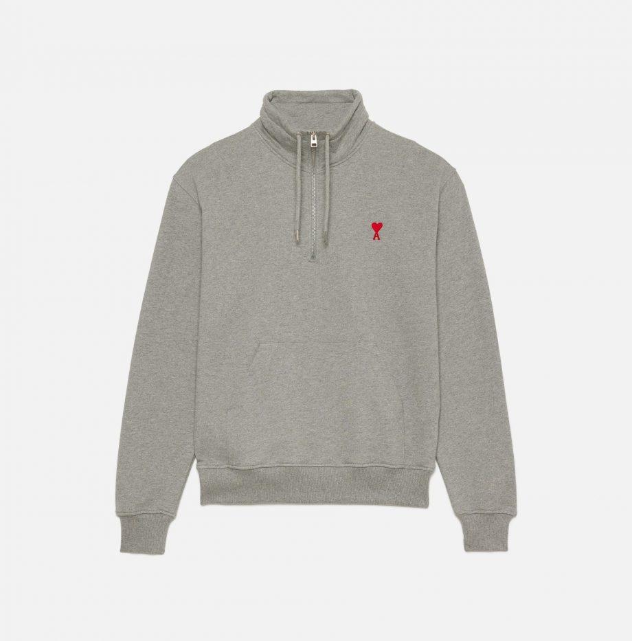 Sweatshirt_Zippe_Ami_de_Coeur_Gris_Chiné_3