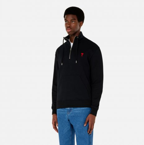 Sweatshirt Zippe Ami de Coeur Noir