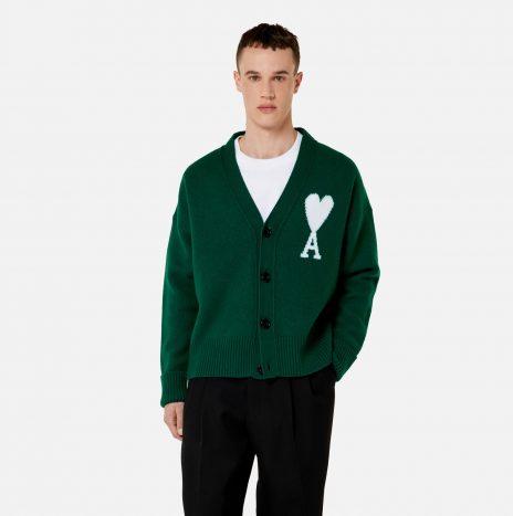 Cardigan Oversize Ami de Coeur Blanc / Vert