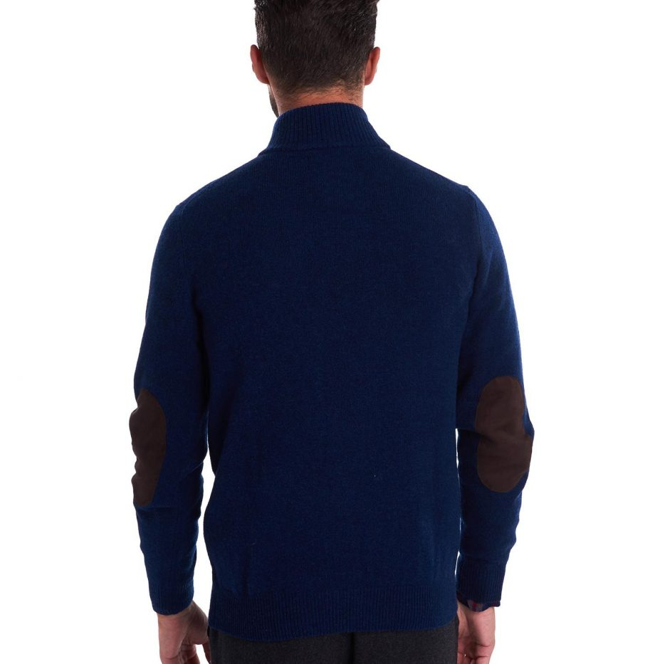 Pull Barbour Patch Half Deep Blue