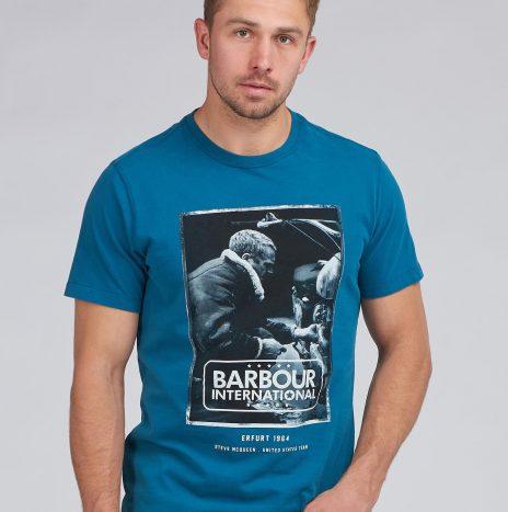 Tee-Shirt Mechanic STEVE MCQUEEN™ Barbour Legion Blue