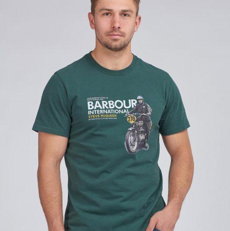 Tee-Shirt Side STEVE MCQUEEN™ Barbour Deep Green