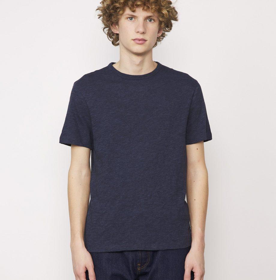 Tee-shirt_Cotton_Jersey_Officine_Générale_Bleu_Moyen